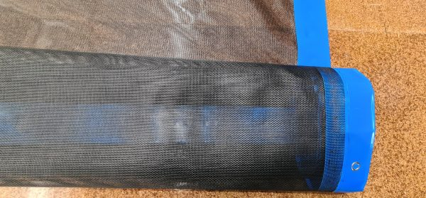 Half Rolled Mesh Tarp with Zoomed In